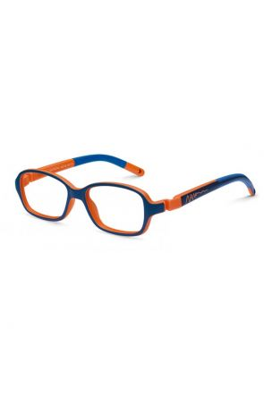 Bi-color Matte Navy / Orange