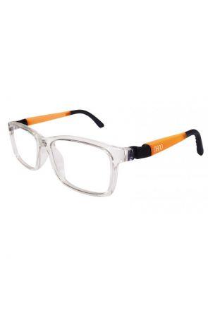 Crystal Clear / Black / Glowing Orange